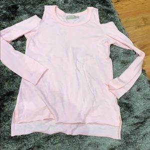 Never worn Nation size XS pink cold shoulder top